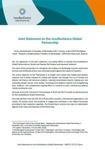 Joint Statement InsuResilience Global Partnership